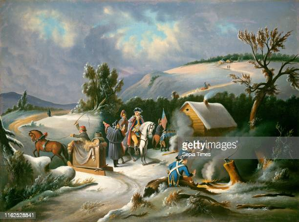 American 19th Century Washington at Valley Forge mid 19th century oil on canvas