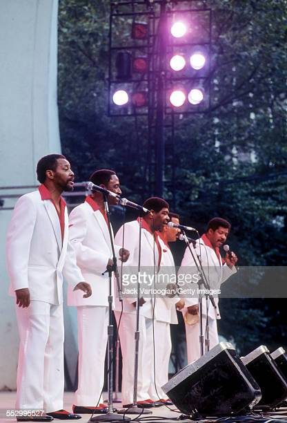 American a cappella RB group the Persuasions perform at the Second Annual Blues and Gospel Festival at Lincoln Center OutofDoors in Damrosch Park...