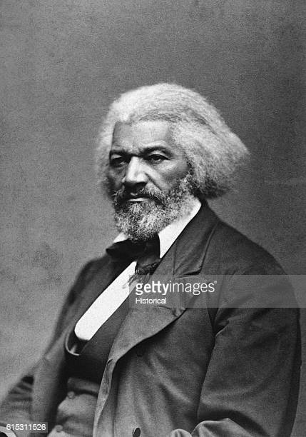 American abolitionist and former slave Frederick Douglass who helped recruit AfricanAmerican regiments during the Civil War ca 1879