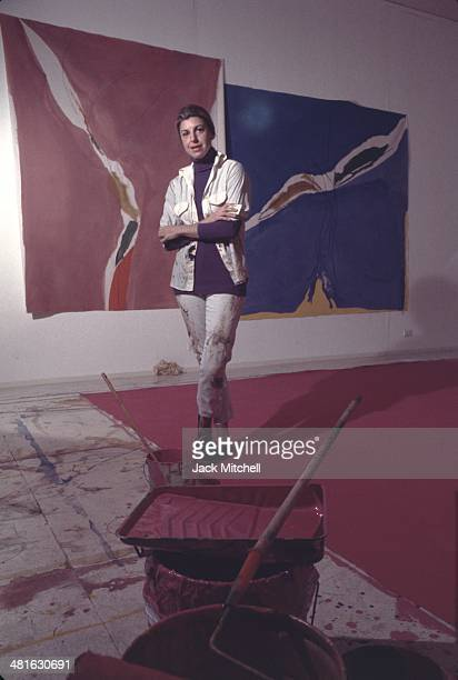 American abstract expressionist painter Helen Frankenthaler photographed in her New York City studio in 1971