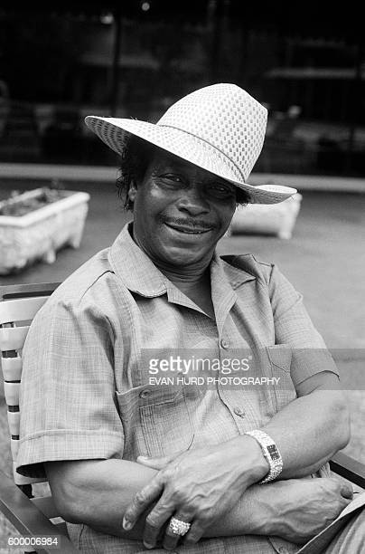 American accodionist Boozoo Chavis, aka The King of Zydeco, during the New Orleans Jazz & Heritage Festival.