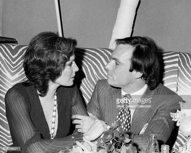 American actess Jennifer O'Neill possibly with fiance Johnny Revson circa 1975