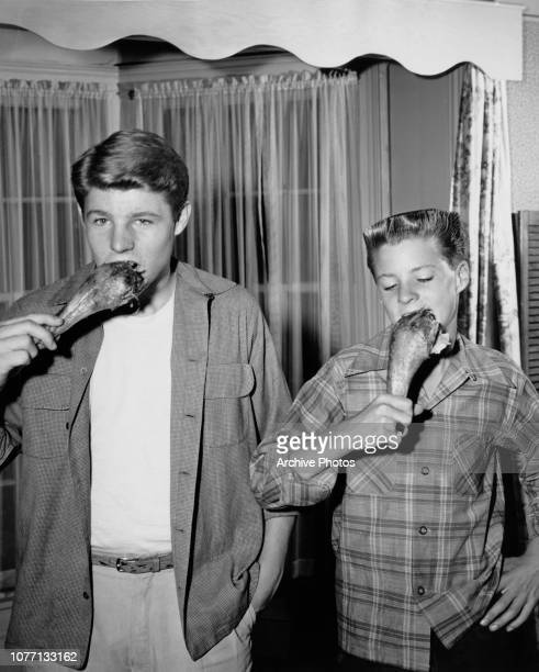 American acting brothers David and Ricky Nelson circa 1952 They are the sons of Harriet Hilliard Nelson and Ozzie Nelson