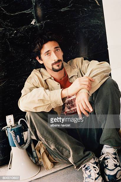 American actor Adrien Brody on the set of Bread and Roses directed by Ken Loach