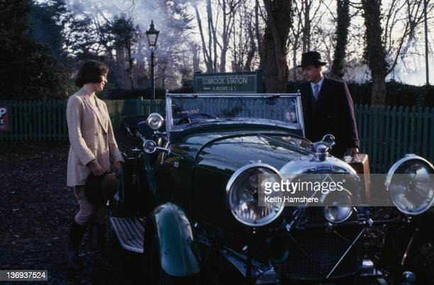 American actor Aidan Quinn and English actress Kate Beckinsale at Edbrook Station in a scene from the film 'Haunted' 1995