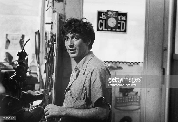 American actor Al Pacino as New York City policeman Frank Serpico stands in a room in a still from director Sidney Lumet's film 'Serpico' The film...