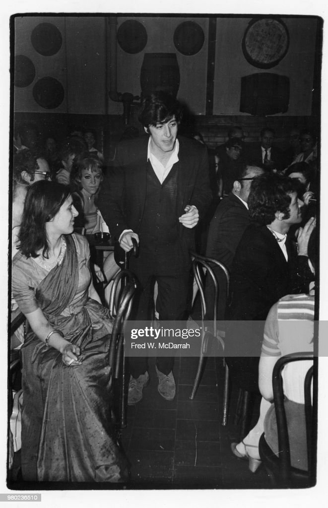 American actor Al Pacino is called to the podium after winning the Obie Award for Best Actor (for his performance in Israel Horovitz's 'The Indian Wants the Bronx') at the Village Gate (152 Bleecker Street), New York, New York, May 25, 1968.