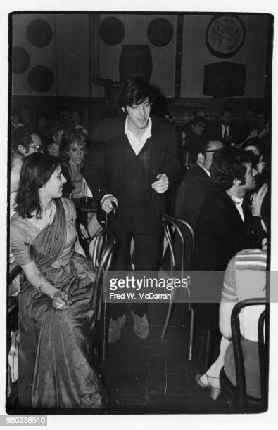 American actor Al Pacino is called to the podium after winning the Obie Award for Best Actor at the Village Gate New York New York May 25 1968
