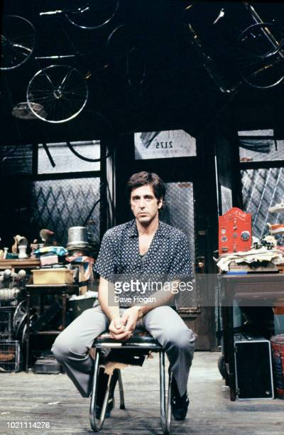 American actor Al Pacino on stage in David Mamet's play 'American Buffalo' in the West End London in 1984