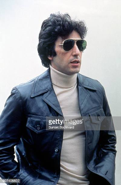 American actor Al Pacino on the set of Bobby Deerfield directed by Sydney Pollack
