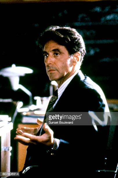 American actor Al Pacino on the set of Glengarry Glen Ross directed by James Foley