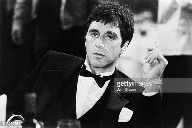 American actor Al Pacino on the set of Scarface, directed by Brian de Palma.
