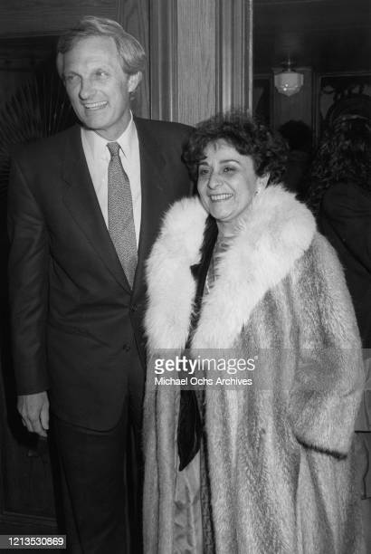 American actor Alan Alda and his wife Arlene arrive at the opening of his new film 'A New Life' in New York City 1988 Alda wrote directed and starred...