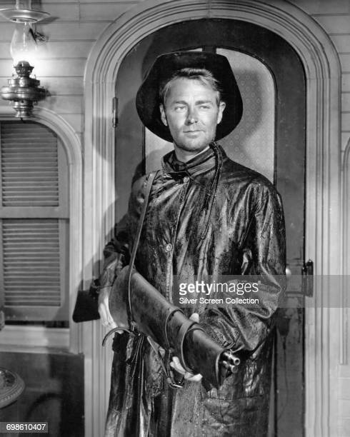 American actor Alan Ladd as Luke 'Whispering' Smith in the western 'Whispering Smith', 1948.