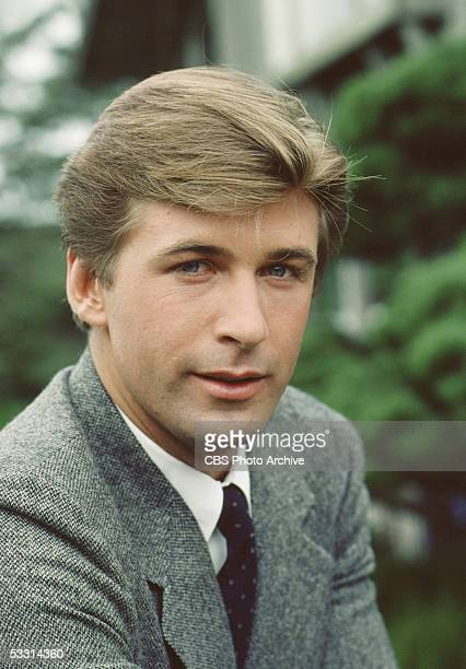 American actor Alec Baldwin poses for a portrait during the filming of the episode titled 'IPSO Facto' of the TV soap opera series 'Knots Landing,'...