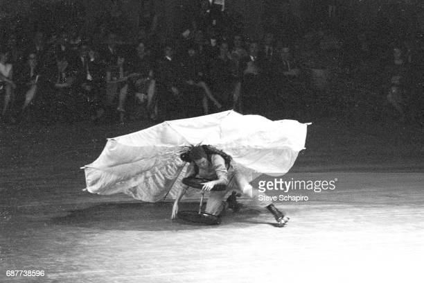 American actor Alex Hay performs in Rauschenberg's 'Pelican' as part of the NOW Festival at the National Area's rollerskaing rink Washington DC April...