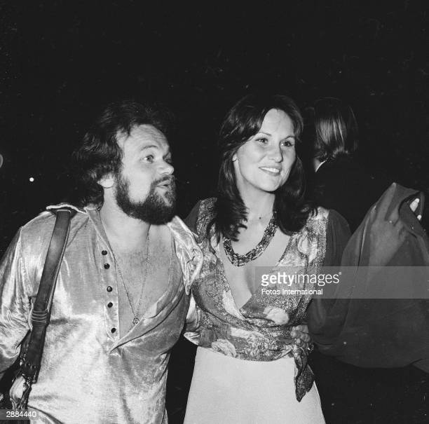 American actor and adult film star Linda Lovelace attends a Smothers Brothers Comedy act with date David Winter 1974