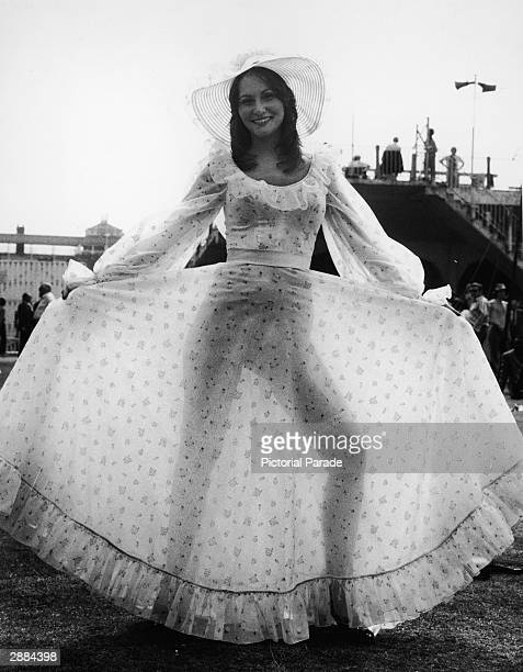 American actor and adult film star Linda Lovelace attends the England vs. India test cricket match at Lords Cricket Ground, London, England, June 20,...