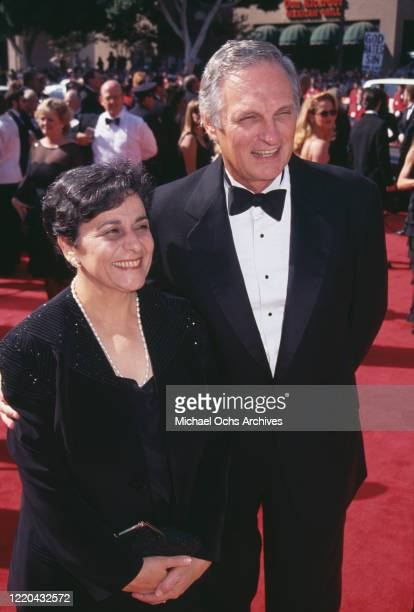 American actor and comedian Alan Alda and his wife American photographer Arlene Weiss attend the 1994 Primetime Emmy Awards held at the Pasadena...