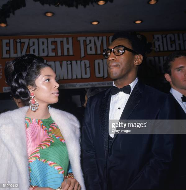 1967 American actor and comedian Bill Cosby and his wife Camille at the premiere of Franco Zeffirelli's film 'La Bisbetica domata'