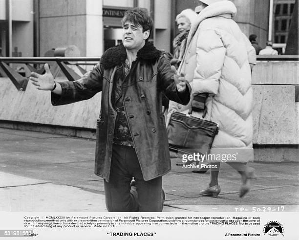 American actor and comedian Dan Aykroyd as Louis Winthorpe III in a scene from 'Trading Places' directed by John Landis 1983