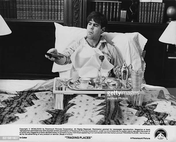 American actor and comedian Dan Aykroyd as Louis Winthorpe III, in a scene from 'Trading Places', directed by John Landis, 1983.