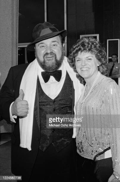 American actor and comedian Dom DeLuise with his wife, actress Carol Arthur at the 57th Academy Awards at the Dorothy Chandler Pavilion in Los...