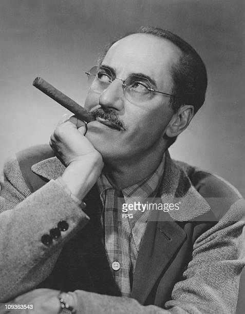 American actor and comedian Groucho Marx host of the television quiz show 'You Bet Your Life' circa 1948