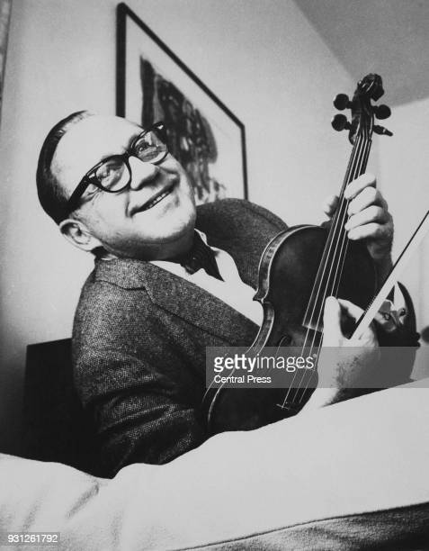 American actor and comedian Jack Benny with his trademark violin circa 1950