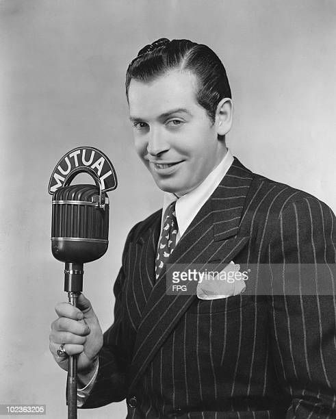 American actor and comedian Milton Berle at a Mutual Broadcasting System radio station, circa 1940.