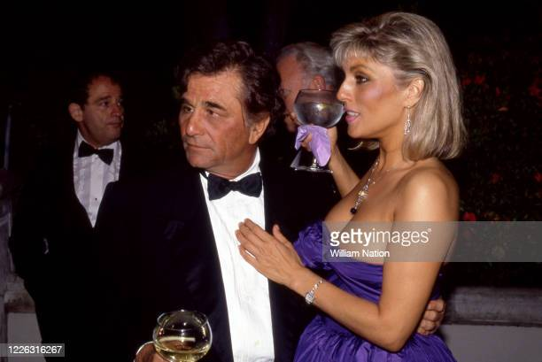 American actor and comedian Peter Falk and wife American actress Shera Danese during the Women's Wear Daily party circa September 1987 at Elizabeth...