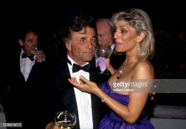 American actor and comedian Peter Falk and wife American actress Shera Danese during the Women's Wear Daily party circa September, 1987 at Elizabeth...