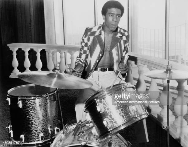 American actor and comedian Richard Pryor as drummer Stanley X in the film 'Wild in the Streets', 1968.