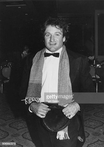 American actor and comedian Robin Williams at the New York Hilton hotel, New York City, following 'Night Of 100 Stars', a benefit performance for the...