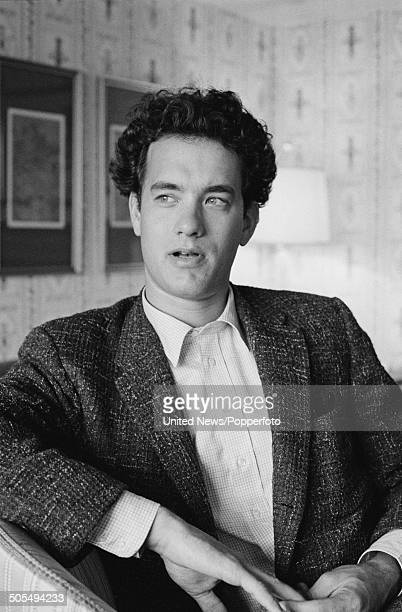 American actor and comedian Tom Hanks posed in London on 15th June 1984