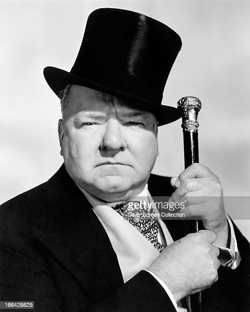 6f18c85cbd8 American actor and comedian WC Fields with top hat and cane 1940