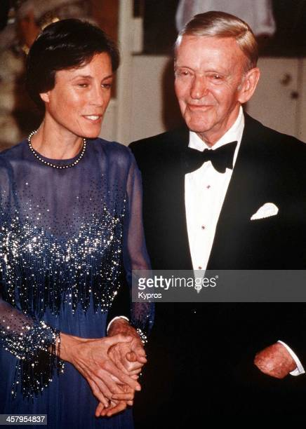 American actor and dancer Fred Astaire with his wife Robyn circa 1985