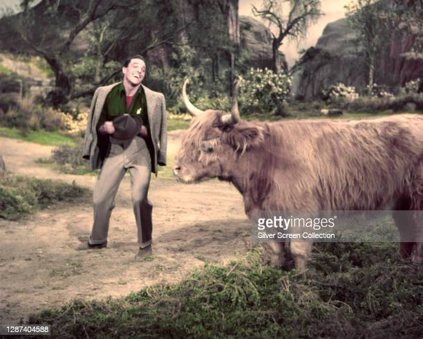 American actor and dancer Gene Kelly as Tommy Albright in the MGM musical film 'Brigadoon', 1954.