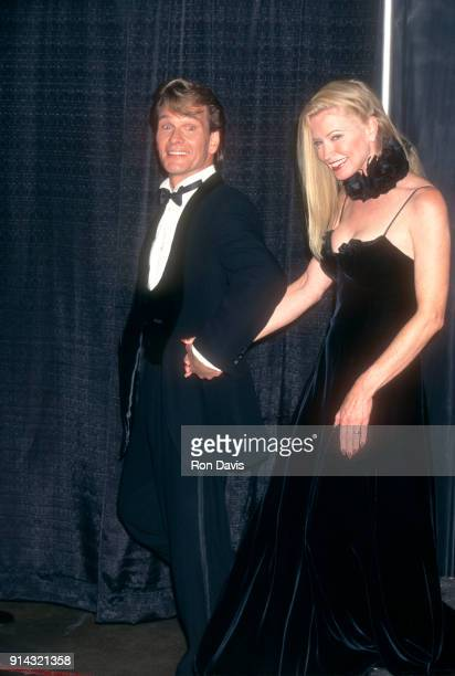 American actor and dancer Patrick Swayze and his wife Lisa Niemi attend the 'Sinatra 80 Years My Way' Birthday Celebration on November 19 1995 at the...