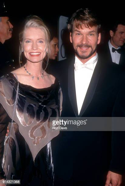 American actor and dancer Patrick Swayze and his wife Lisa Niemi attend the 52nd Annual Golden Globe Awards on January 21 1995 at the Beverly Hilton...