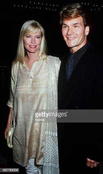 American actor and dancer Patrick Swayze with his wife Lisa Niemi at the premiere of the film 'City of Joy' in Century City California 7th April 1992