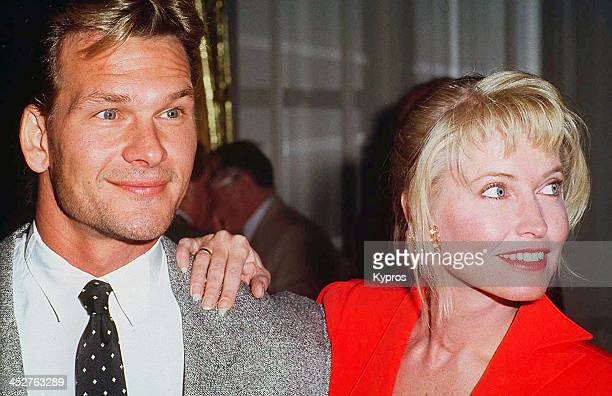 American actor and dancer Patrick Swayze with his wife Lisa Niemi circa 1992