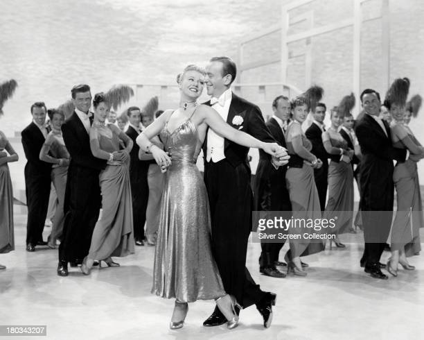 American actor and dancers Fred Astaire and Ginger Rogers as Dinah Barkley in a promotional still for their last film together 'The Barkleys of...