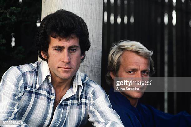 American actor and director Paul Michael Glaser in character as Detective David Starsky with American actor and singer David Soul as Detective Ken...