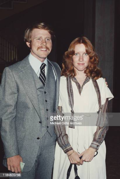 American actor and director Ron Howard with his wife Cheryl circa 1980