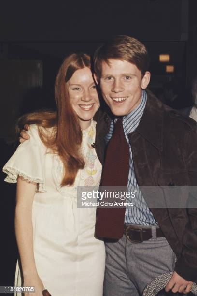 American actor and director Ron Howard with his wife Cheryl circa 1978