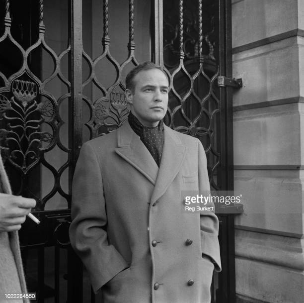 American actor and film director Marlon Brando near South Africa House Trafalgar Square London UK 10th February 1964