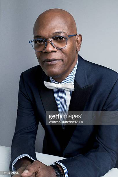 American actor and film producer Samuel L Jackson poses for a portrait at the 2016 AMD British Academy Britannia Awards presented by Jaguar Land...