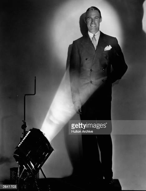 American actor and film star Randolph Scott in the spot light