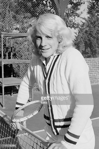 American actor and filmmaker Darby Hinton poses in tennis wear on a tennis court United States circa 1978